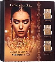 Парфюмерия и Козметика Комплект за лице - La Sultane De Saba Gold & Champagne Gold Anti-Ageing Gift Set (крем/50ml + маска/50ml + скраб/50ml)
