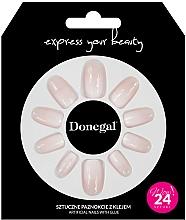Парфюмерия и Козметика Комплект за изкуствен маникюр с лепило, 3058 - Donegal Express Your Beauty