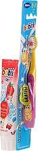 Парфюмерия и Козметика Детски комплект паста и четка за зъби - Bobini 2-7 (toothbrush + toothpaste/75ml)