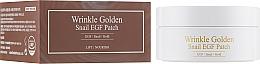 Парфюмерия и Козметика Хидрогелни пачове за очи със злато и секрет от охлюв - The Skin House Wrinkle Golden Snail EGF Patch