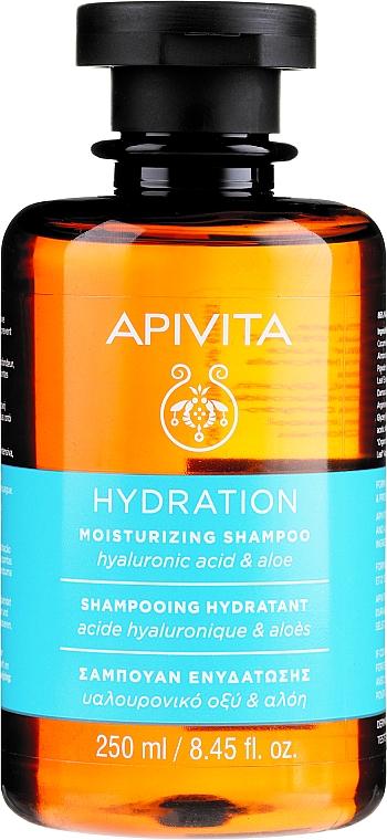 Хидратиращ шампоан с хиалуронова киселина и алое - Apivita Moisturizing Shampoo With Hyaluronic Acid & Aloe