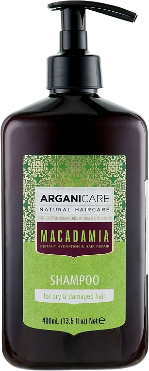Шампоан за суха и изтощена коса с арганово масло и макадамия - Arganicare Macadamia Shampoo