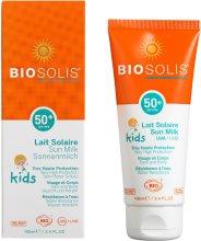 Парфюмерия и Козметика Детско слънцезащитно мляко за лице и тяло SPF 50+ - Biosolis Kids Sun Milk For Face And Body SPF 50+