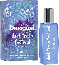Парфюмерия и Козметика Desigual Dark Fresh Festival - Тоалетна вода (мини)