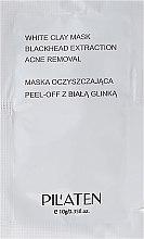 "Парфюмерия и Козметика Почистваща маска за лице ""Бяла глина"" (мостра) - Pilaten White Clay Mask Blackhead Extraction Acne Removal"