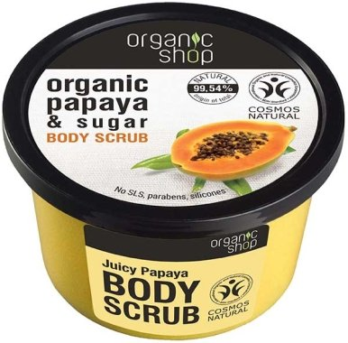 "Скраб за тяло ""Папая и захар"" - Organic Shop Papaya & Sugar Body Scrub"