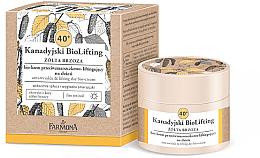 Парфюми, Парфюмерия, козметика Дневен био крем против бръчки 40+ - Farmona Canadian BioLifting Yellow Birch