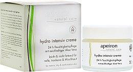 Парфюми, Парфюмерия, козметика Интензивно овлажняващ крем за лице - Apeiron Hydro Intensiv Cream 24h