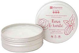 """Парфюмерия и Козметика Крем за ръце """"Роза и масло от ший"""" - La Saponaria Hand Cream Rose and Shea Butter"""