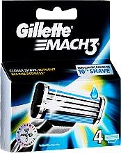 Парфюми, Парфюмерия, козметика Сменяеми ножчета за бръснене, 4бр - Gillette Mach3