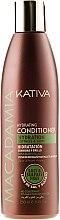 Парфюмерия и Козметика Овлажняващ балсам за нормална и увредена коса - Kativa Macadamia Hydrating Conditioner