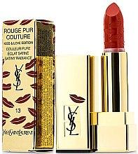 """Парфюми, Парфюмерия, козметика Червило за устни """"Kiss & Love"""" - Yves Saint Laurent Rouge Pur Couture Kiss & Love Edition"""