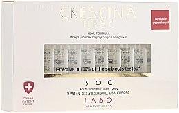 Парфюми, Парфюмерия, козметика Ампули за възстановяване на растежа на косата при мъже 500 - Labo Crescina Re-Growth Anti-Hair Loss Complete Treatment 500 Man