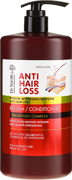Балсам за изтощена и склонна към косопад коса (с дозатор) - Dr. Sante Anti Hair Loss Balm