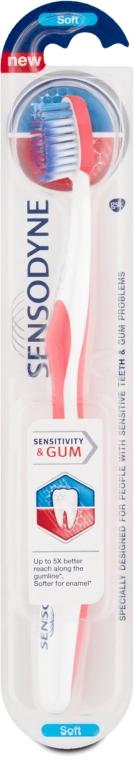 Четка за зъби при чувствителни венци, розов - Sensodyne Sensitivity & Gum Soft Toothbrush