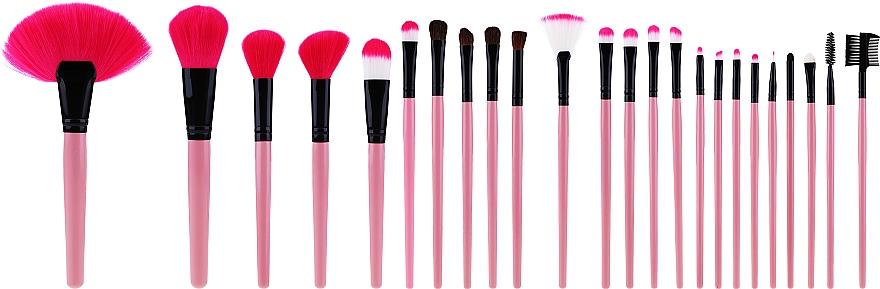 Професионален комплект четки за грим, розов, 24 бр - Tools For Beauty