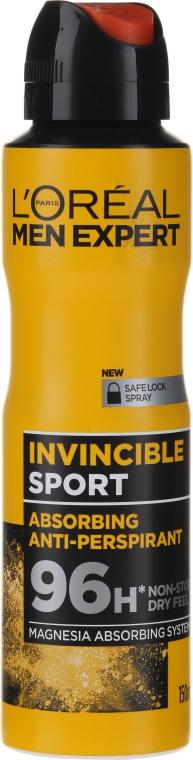 Дезодорант-антиперспирант за мъже - L'Oreal Men Expert Invincible Sport Deodorant 96H