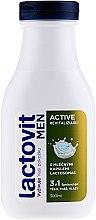 Парфюмерия и Козметика Душ гел за мъже 3в1 - Lactovit Men Active 3v1 Shower Gel