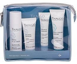 Парфюми, Парфюмерия, козметика Комплект - Thalgo Travel Kit (мицел. вода/50ml+серум/15ml+крем/20ml+мляко за тяло/30ml)