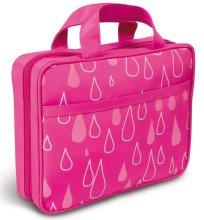"""Сгъваема козметична чанта с дръжка """"Капчици"""", 4945, розова - Donegal Cosmetic Bag — снимка N1"""