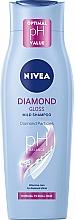 "Парфюмерия и Козметика Шампоан ""Диамантен блясък"" с кератин - Nivea Hair Care Diamond Gloss Shampoo"