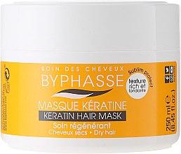 Парфюмерия и Козметика Маска с кератин за суха и изтощена коса - Byphasse Keratin Hair Mask