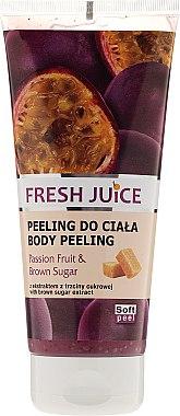 Пилинг за тяло с екстракт от маракуя и кафява захар - Fresh Juice Passion Fruit & Brown Sugar