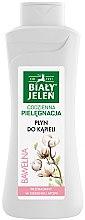 Парфюмерия и Козметика Гел-пяна за вана и душ с памук - Bialy Jelen Hypoallergenic Bath Lotion Cotton