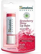 """Парфюмерия и Козметика Балсам за устни """"Ягодов блясък"""" - Himalaya Herbals Strawberry Shine Lip Balm"""