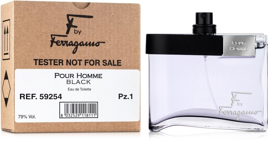 Salvatore Ferragamo Ferragamo F by Homme BLACK - Тоалетна вода (тестер без капачка) — снимка N2