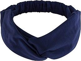 """Парфюмерия и Козметика Лента за глава, от плат, тъмносиня """"Knit Twist"""" - MakeUp Hair Accessories"""
