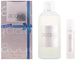 Парфюми, Парфюмерия, козметика Luxana Aqua Uno - Комплект тоалетна вода (edt/1000ml + edt/50ml)