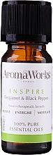 Парфюмерия и Козметика Етерично масло от бергамот и черен пипер - AromaWorks Inspire Essential Oil