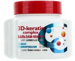 "Балсам-маска ""Ефект на копринена коса"" - Ексклузивкозметик 3D-keratin complex — снимка N1"