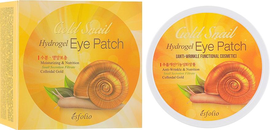 Хидрогел пачове за под очи със слуз от охлюв - Esfolio Gold Snail Hydrogel Eye Patch — снимка N1
