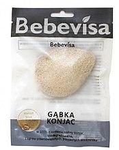 """Парфюмерия и Козметика Гъба за измиване, капка, двустранна """"Орехови черупки"""" - Bebevisa Konjac Sponge"""