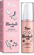 Парфюмерия и Козметика Сияещ крем-флуид за лице 4в1 - 7 Days Illuminate Me Luminous Fluid Cream 4in1