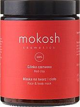 """Парфюми, Парфюмерия, козметика Маска за лице и тяло """"Червена глина"""" - Mokosh Cosmetics Red Clay Face and Body Mask"""