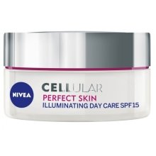 Парфюми, Парфюмерия, козметика Дневен крем за лице - Nivea Cellular Perfect Skin Illuminating Day Cream SPF15