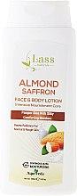 Парфюмерия и Козметика Овлажняващ лосион за тяло - Lass Naturals Almond & Saffron Moisturising Lotion