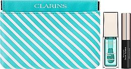 Парфюмерия и Козметика Комплект - Clarins Candy Box Mint (масло за устни/7ml + спирала/3,5ml + козм. несесер)