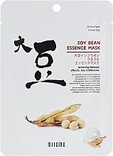 Парфюмерия и Козметика Памучна маска за лице със соеви зърна - Mitomo Soy Bean Essence Mask