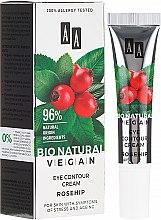 Парфюмерия и Козметика Крем за околоочния контур с шипка - AA Cosmetics Bio Natural Vegan Eye Contour Cream Rosehip
