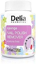 Парфюми, Парфюмерия, козметика Лакочистител с гъба - Delia Sponge Nail Polish Remover Acetone Free