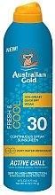 Парфюмерия и Козметика Охлаждащ слънцезащитен спрей - Australian Gold Freash&Cool Continuous Spray Sunscreen SPF30