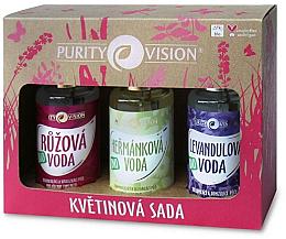 Парфюмерия и Козметика Комплект за лице - Purity Vision Bio (розова вода/100ml + лайкова вода/100ml + лавандулова вода/100ml)