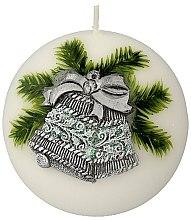 Парфюмерия и Козметика Декоративна свещ, 10 см - Artman Christmas Bell Candle Ball