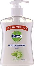 Антибактериален течен сапун за ръце с алое вера и витамин Е - Dettol Anti-Bacterial Liquid Hand Wash With Aloe Vera And Vitamin E — снимка N1