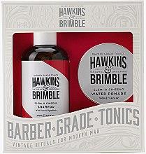 Парфюми, Парфюмерия, козметика Комплект - Hawkins & Brimble Gift Set (shm/250ml + pomade/100ml)
