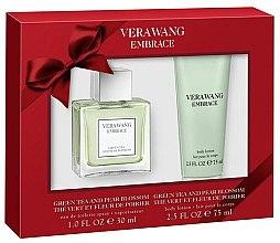 Парфюми, Парфюмерия, козметика Vera Wang Embrace Green Tea & Pear Blossom Gift Set - Комплект (тоал. вода/30ml + лосион за тяло/75ml)